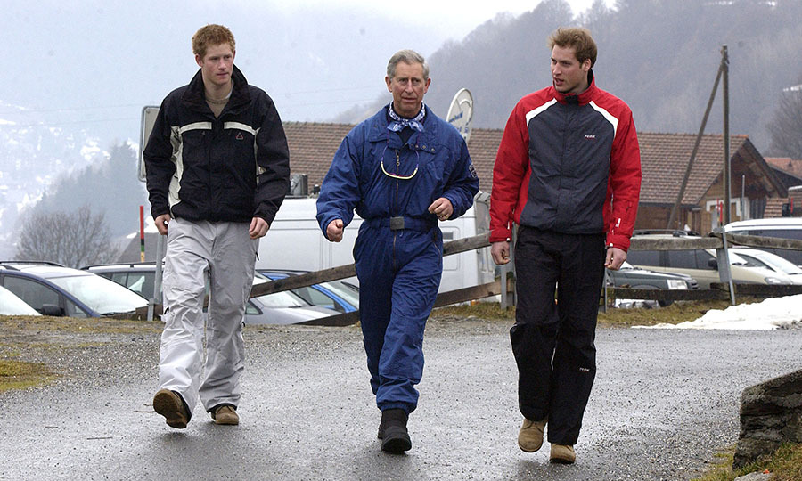 The boys reached new heights during a ski trip with dad.
