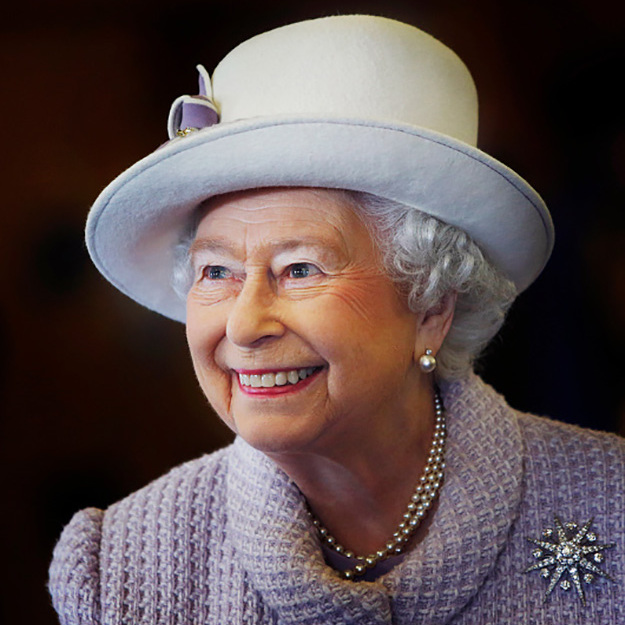 Celebrating her 67th wedding anniversary with a chic hat fit for a Queen. 