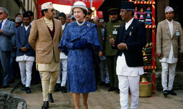 Queen Elizabeth opted for a bowler style during her visit to Nepal.
