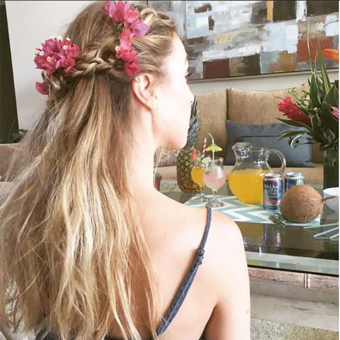 Messy Side Pony with Braid