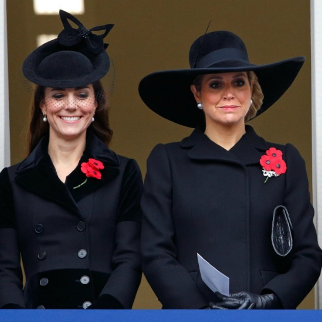 Maxima knew it was the bigger the better when it came to her big floppy hat choice for the l Remembrance Sunday Service in London. 