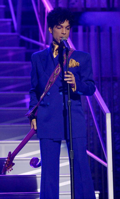 Prince performed hits from his decades-long career at the 46th annual Grammy Awards.
