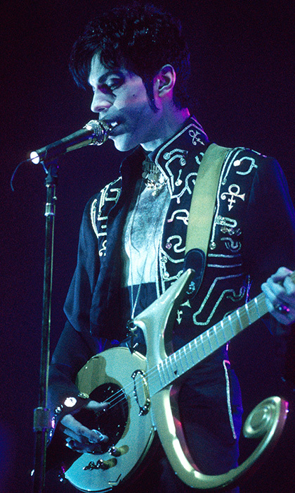 During his incarnation as The Artist Formerly Known as Prince in 1995. 