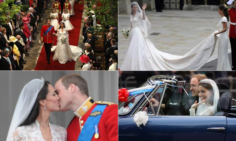 As Prince William and Kate Middleton celebrate their sixth wedding anniversary we look back at the memorable day.