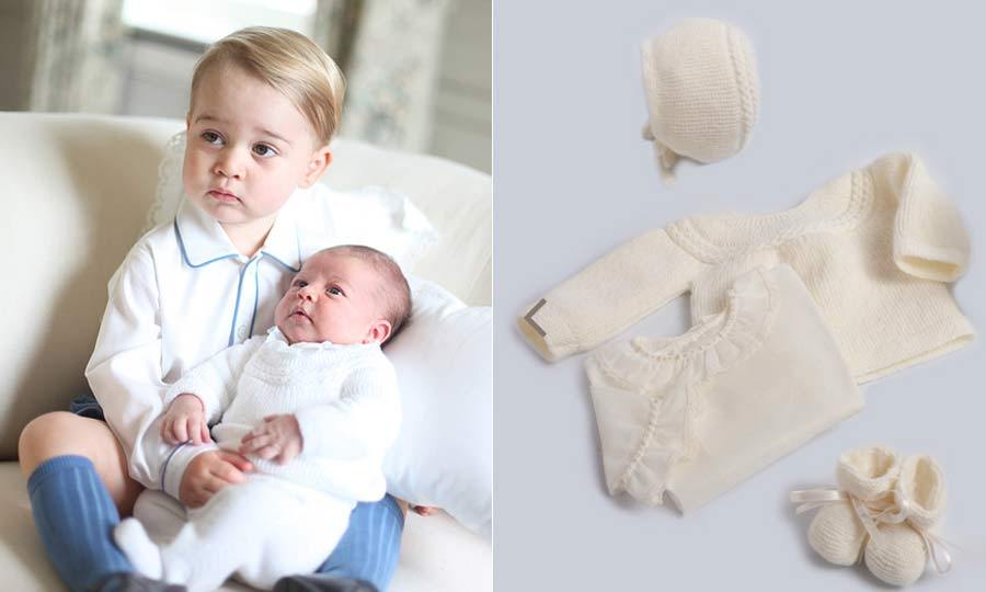 Too cute! Princess Charlotte and Prince George were picture perfect – and matching! – in their first joint portrait. For the sweet photo the Princess wore a $254 four-piece ensemble from Spanish brand Irulea.