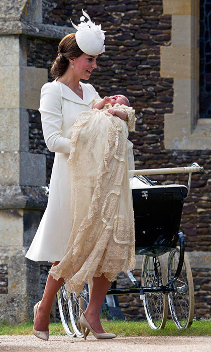 For her christening the fourth-in-line to the British throne wore brother Prince George's hand-me-downs, a replica of a more than 170-year-old royal heirloom. The original has quite a history of its own: William wore it in 1982, after his father Prince Charles in 1948 and Queen Elizabeth II in 1926.