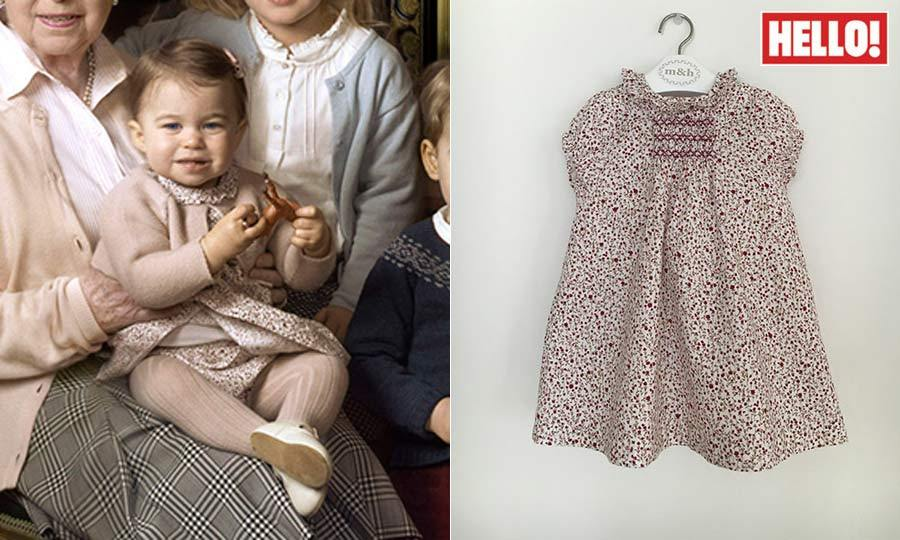 In the portraits released to celebrate Queen Elizabeth's 90th birthday in the summer of 2016, her great-granddaughter wore another floral ensemble. The dress is from the Spanish shop m&h's autumn-winter collection and costs the equivalent of $34.