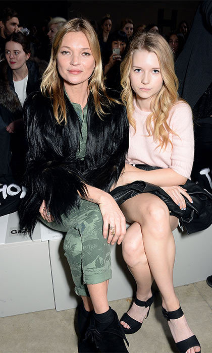 <b>Kate and Lottie Moss</b>