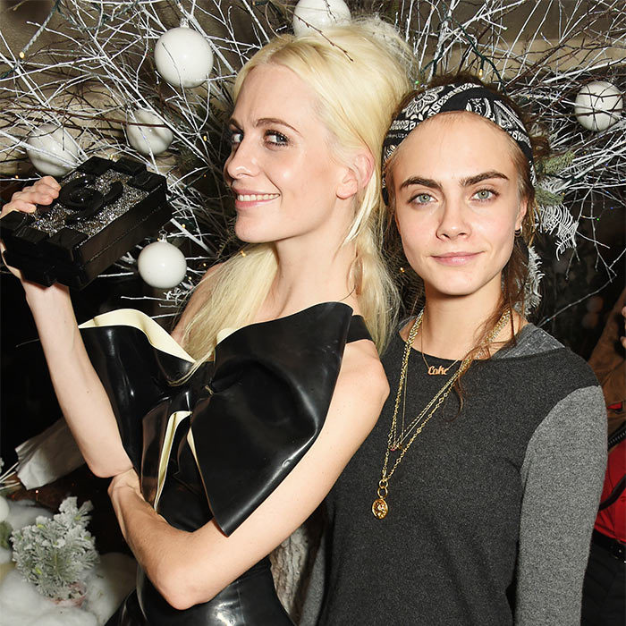 <b>Poppy and Cara Delevingne</b>