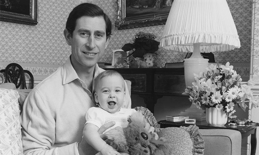 The first child of Prince Charles and Princess Diana, he weighed 7lbs 1.5oz.