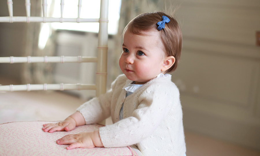 To mark Charlotte's first birthday, Kensington Palace released a new set of official portraits shot by her mother, Kate Middleton.