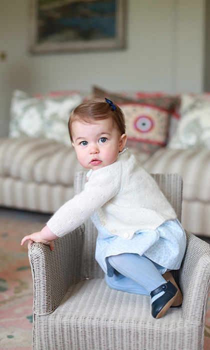 Birthday girl! Kate Middleton snapped a set of adorable new photos at her home in Norfolk in honor of Princess Charlotte's first birthday on May 2.