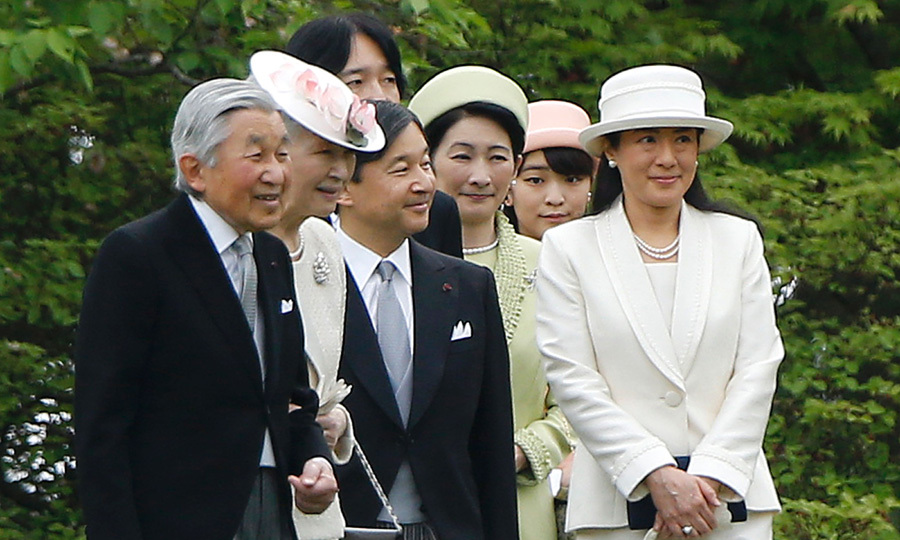 Japan's Emperor Akihito and his wife Empress Michiko were joined by other Japenese royals to attend an annual garden party at the Akasaka Palace imperial garden in Tokyo.