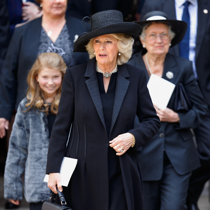 The Duchess of Cornwall said goodbye to her good friend Geoffrey Howe during a Service of Thanksgiving for his life at Westminster Abbey.