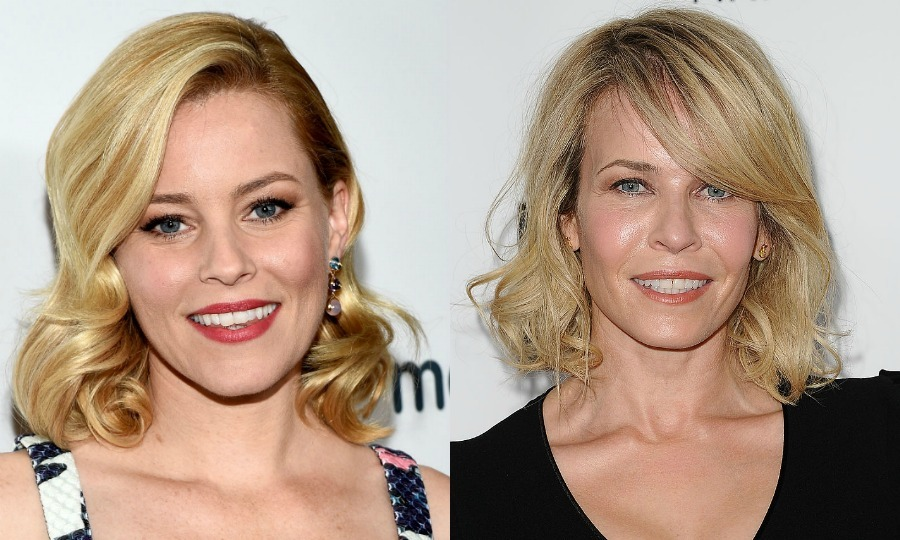"Elizabeth Banks takes advantage of being compared to Chelsea Handler in order to fly under the radar. ""I don't mind being compared to Chelsea Handler at all. It helps when someone says, 'Oh, you're Chelsea Hander,' and I say, 'Yes I am.' That gives me one more gain of anonymity,"" she told Fox News in 2012. ""We met at a party and were both aware people compared or confused us. She's a great broad, real wit.""