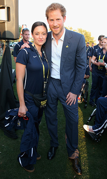 Harry met with US Invictus team member Elizabeth Marks. 