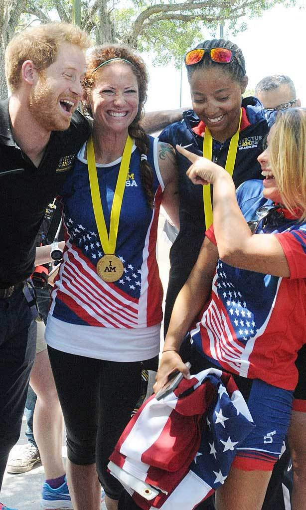 Smitten by Prince Charming. American competitors were all smiles meeting the British royal. 