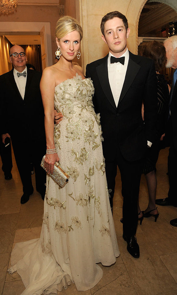 In May 2016, Nicky wore a stunning embellished ball gown as she attended the FIT Annual Gala with husband James Rothschild in New York City. 