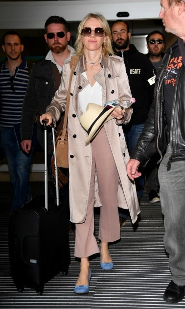 May 10: Naomi Watts looked festival ready in her pale pink attire. 