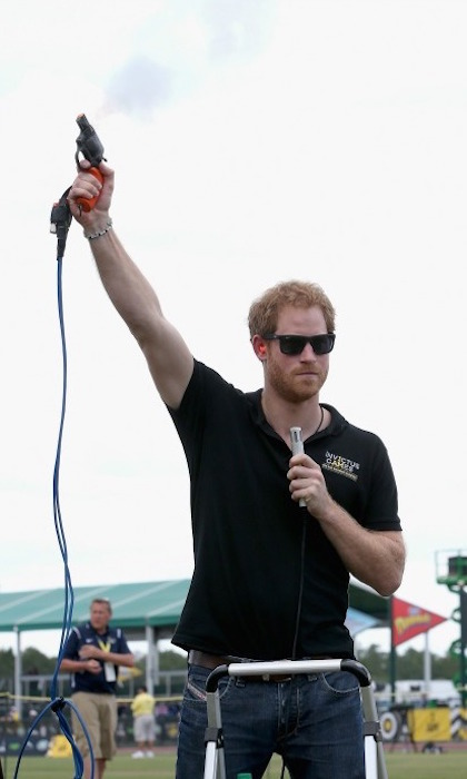 On your mark, get set, go!  Prince Harry kicked off the track and field events at the 2016 Invictus Games. 