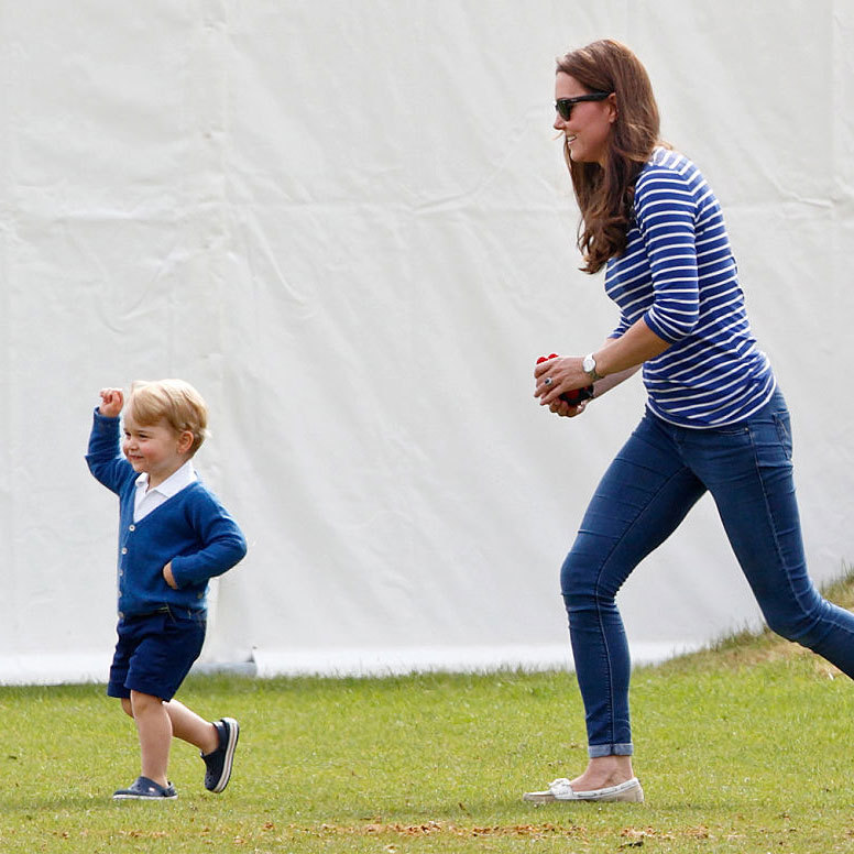 """He's got a scooter. He's going super fast on it,"" the Duchess of Cambridge told a group of school children from St. Matthew's Primary School of her son Prince George. ""It's hard to keep up with him!""
