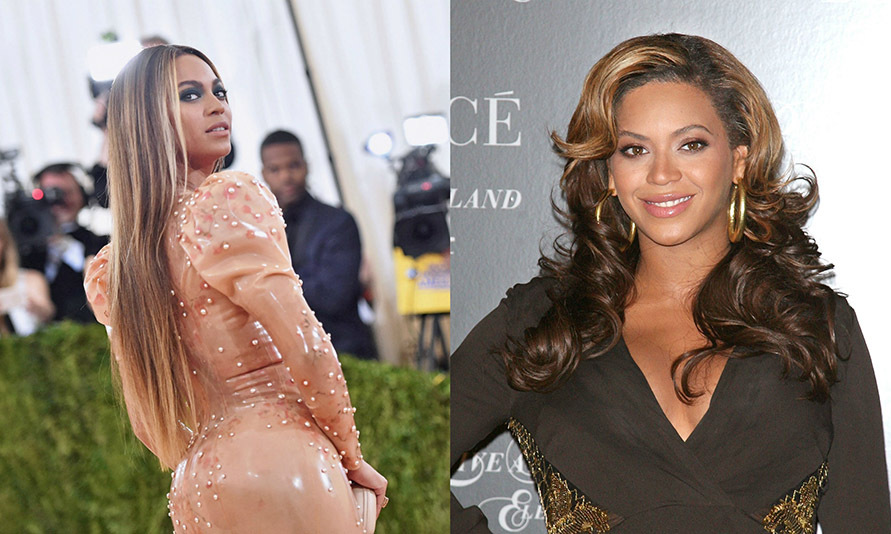 <b>Beyonce</b> is always glowing from head to toe. She's tried every look and style imaginable, so it's not a surprise she's gone from full blonde highlights to a more toned-down light brunette.  