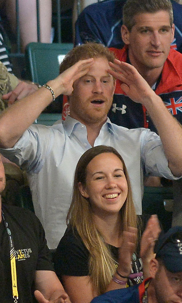 The ginger-haired royal couldn't contain his excitement watching the Jaguar Landrover Challenge wheelchair rugby match.