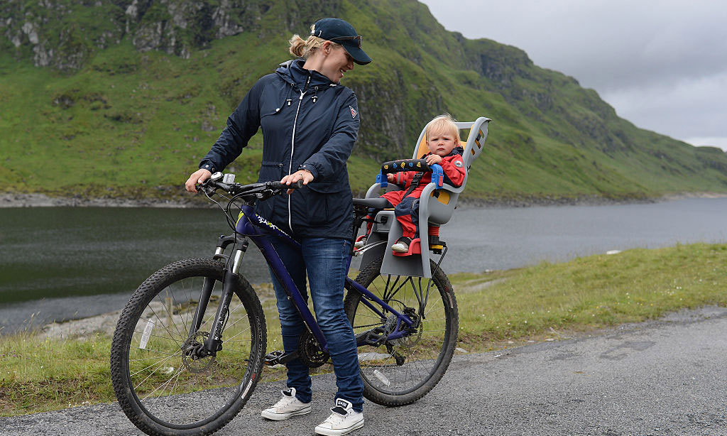 Biking beauties! In 2015, the mother-daughter pair supported husband/father Mike Tindall and Scottish player Rory Lawson as they competed in the Artemis Great Kindrochit Quadrathlon in Loch Tay Scotland.