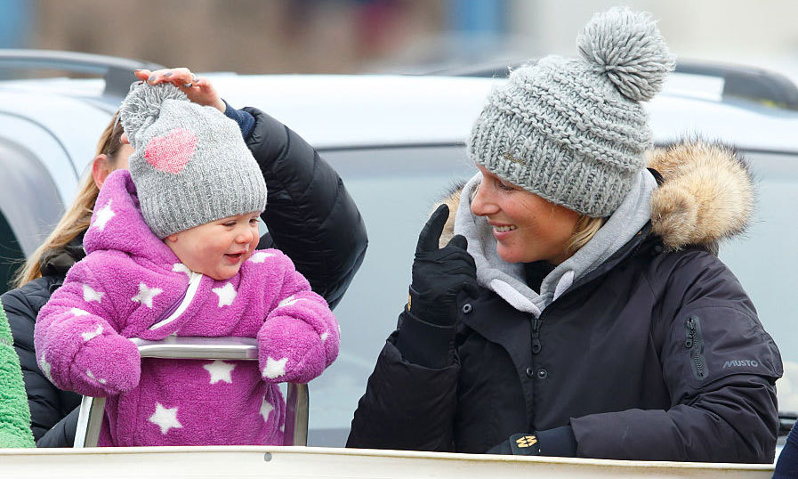 Zara, who is an accomplished equestrian,enjoyed watching the Heythrop Hunt Point-to-Point horse racing meet with her little girl back in 2015.