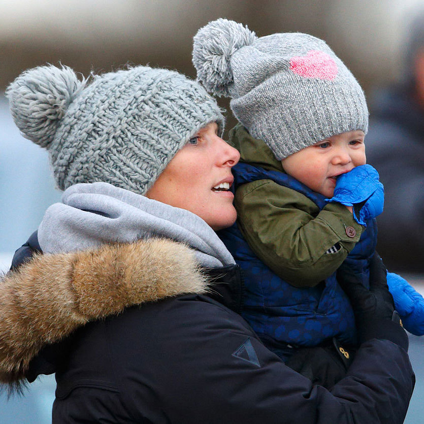 Like her mom, Mia does not hold a royal title, however she did inherit Zara's golden locks and fair skin.