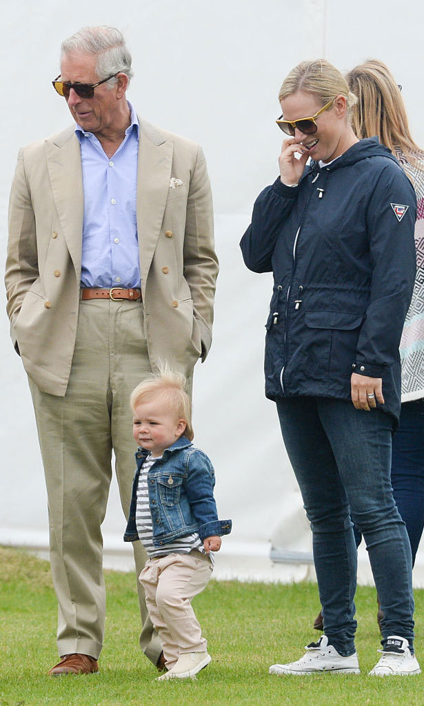 The mom-of-one kept a close eye on her daughter as the adorable tot was taking in the Gigaset Charity Polo Match. 