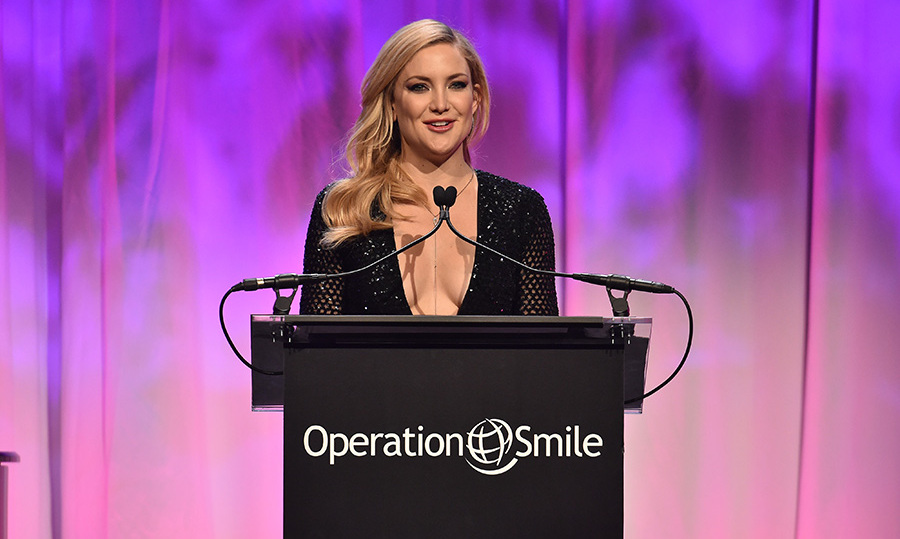 "May 12: Kate Hudson talked about the influence her mother Goldie Hawn had when it came to getting involved with Operation Smile, while accepting the ""Universal Smile Award"" at the Operation Smile 14th annual Smile gala in NYC. 