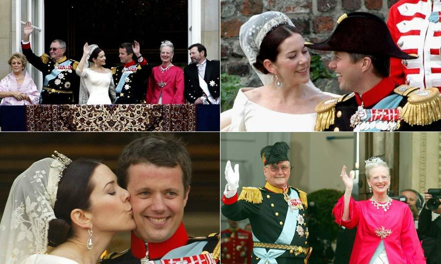 After four years of dating, Crown Prince Frederik of Denmark married law graduate Mary Donaldson in a fairytale wedding ceremony in Cophenhagen.