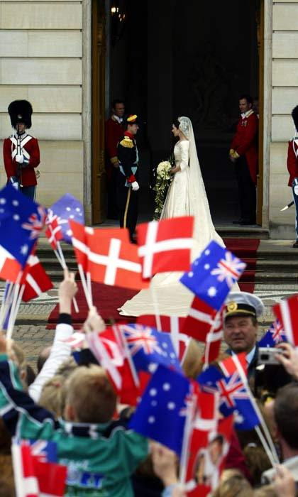 Thousands of royal fans from around the globe traveled to Denmark to see the royal wedding. Many of the children waiting on the streets were dressed up as little princes and princesses and waved Danish and Australian flags.