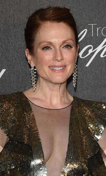 <b>Julianne Moore</b> wowed at the Chopard party during the Cannes Film Festival with her hair swept back into a chic updo, opting for barely-there make-up to show off her radiant complexion.