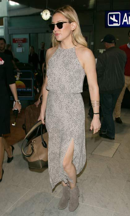 May 14: Whether it's the airport or the red carpet, Kate Hudson always manages to look effortlessly chic, and her arrival at Nice airport was no different.