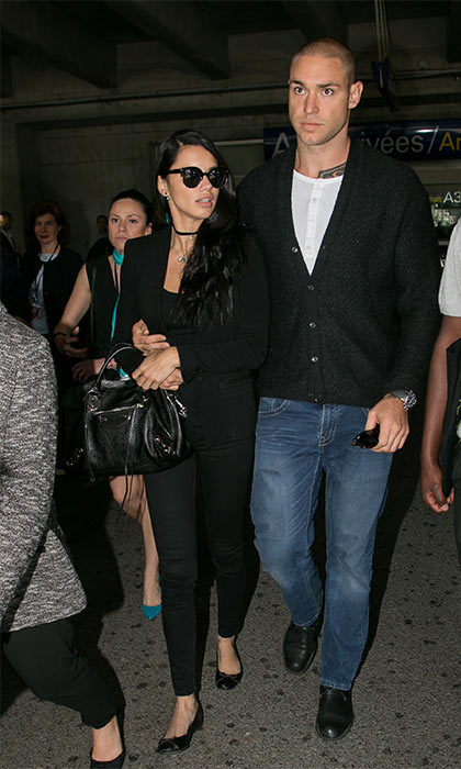 May 14: Adriana Lima looked every inch the supermodel when she arrived in the South of France in a chic all black outfit. The 34-year-old was accompanied by her boyfriend Joe Indulge as they walked through the arrivals hall.
