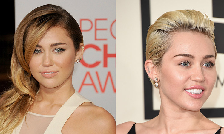 <b>Miley Cyrus</b> went full <i>Hannah Montana</i> by going blonde in real life. After years of being a brunette, she opted to experience the lighter side. 