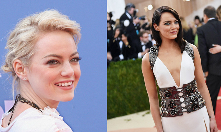 <b>Emma Stone</b> is best known for her signature red hair, but she completely changed the game by going super blonde and later trying a dark brunette look.