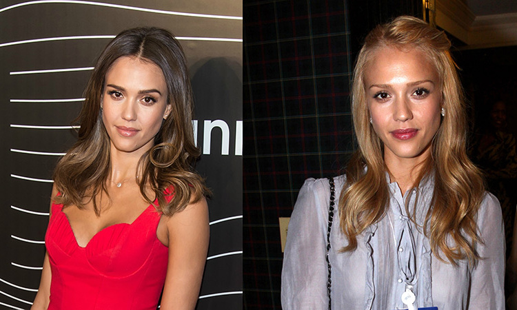 <b>Jessica Alba</b> went a few shades lighter from her naturally brown locks, still maintaining an overall caramel hue.