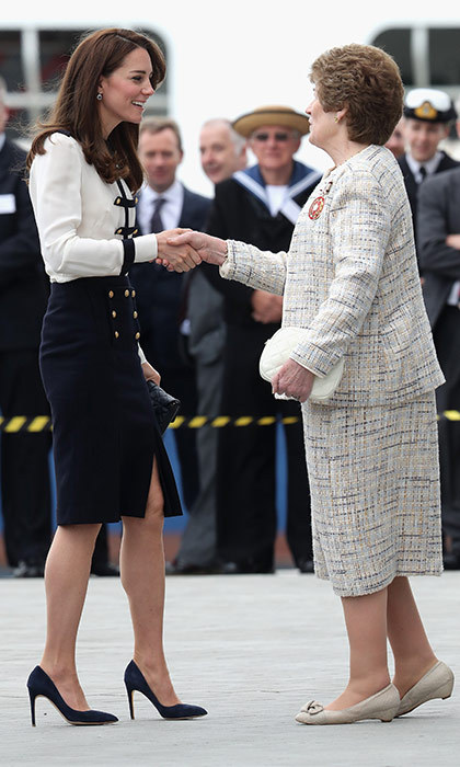 During the engagement, Prince George's mom opened the new Tech Deck Education Center. The new building welcomes visitors to witness the construction and ongoing operation of the UK team's America's Cup boats.