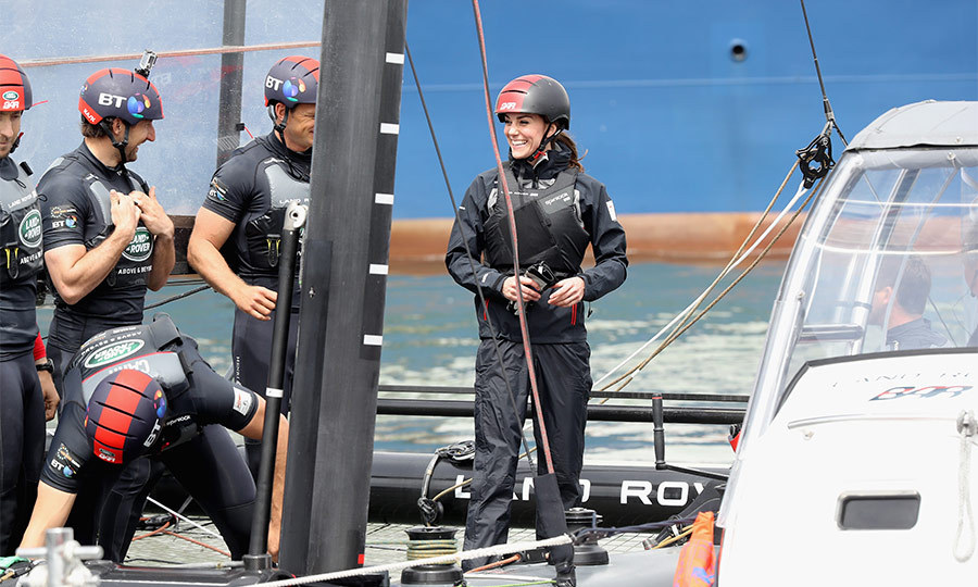 The Duchess, who has undertaken several other sailing engagements with the Trust, eagerly took control, confidently steering the boat out on the race course.