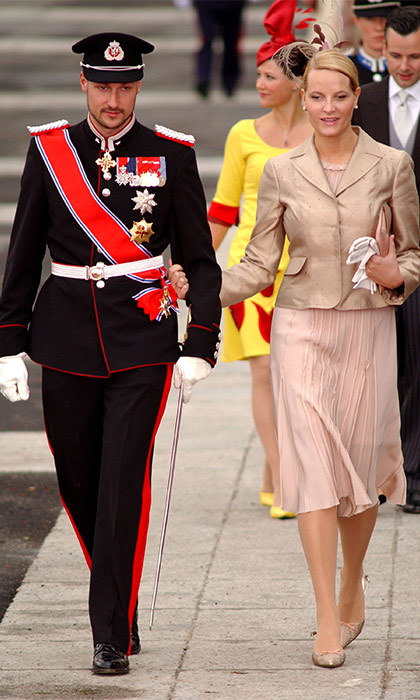 In accordance with morning-wedding protocol,