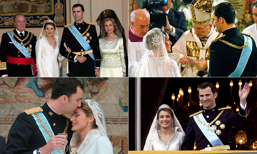 A year after they began dating, Crown Prince Felipe of Spain announced his engagement to journalist Letizia Ortiz in November 2003 at the Zarzuela Palace.