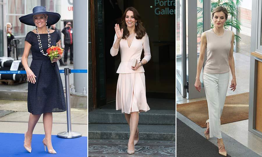 From Kate Middleton's pastel pink Alexander McQueen dress to Queen Letizia's dressed down outfit, here are the best looks from royals over the past week.
