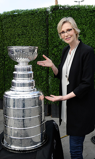 May 19: Jane Lynch posed with the Stanley Cup in Universal City, California. 