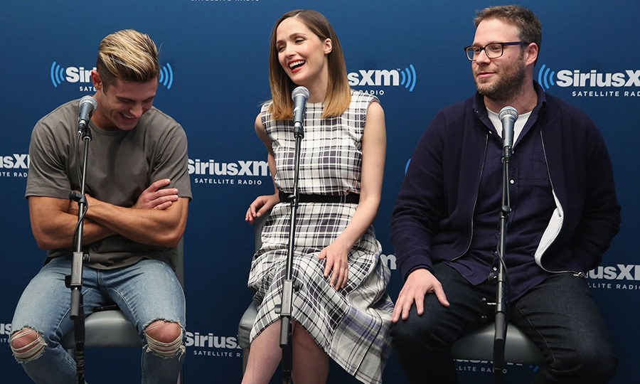May 18: The perfect neighbors!  Zac Efron, Rose Byrne and Seth Rogen participated in the SiriusXM's 'Town Hall' with the cast of <i>Neighbors 2: Sorority Rising</i>.