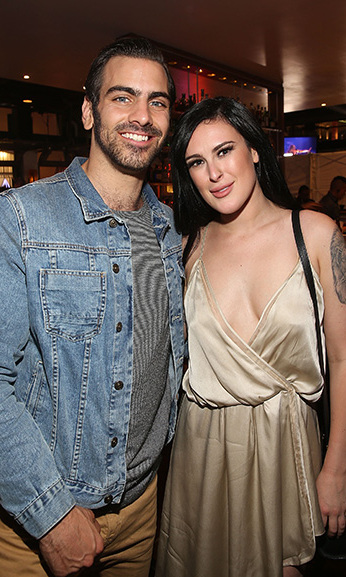 May 16: Dance party! Nyle DiMarco and Rumer Willis celebrated the <i>Dancing with the Stars</i> semi-finals at Mixology 101 at Buca di Beppo in L.A.