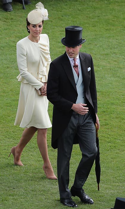 This was the first royal garden party that the Duke and Duchess of Cambridge have attended together. While this was William's first official event on the palace's lawns, Kate has been to several, her first was in May 2012.