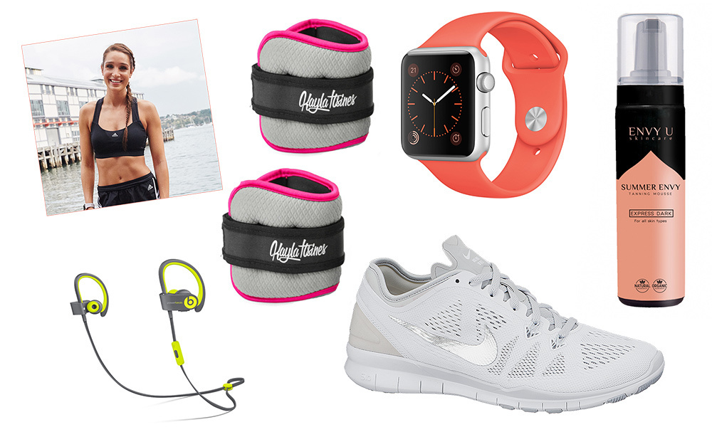 From crisp white shoes to wireless headphones and ankle weights, these workout must-haves will help take your routine to the next level! Click through to see what Instagram fitness star Kayla Itsines always packs for the gym...